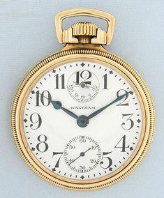 Bogoff Antique Pocket Watches Waltham Model 1908 Riverside Maximus - Bogoff Antique Pocket Watch # 6731