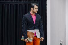 Blazer: Zara/ Camisa: Polo Ralph Lauren/ Calça: Diesel/ Sapato: Sperry Top Sider/ Carteira: Coach/ Relógio: Swatch