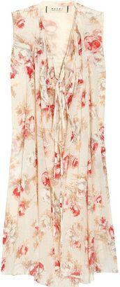 ShopStyle: Marni Floral-print cotton dress