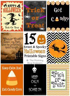 15 Sweet & Spooky Halloween Printables