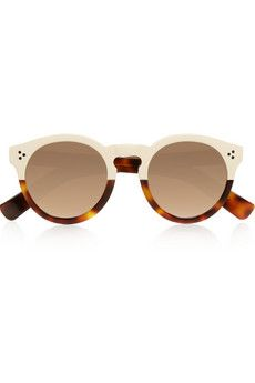Illesteva Leonard II round-frame acetate mirrored sunglasses | NET-A-PORTER