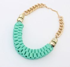 weavecyan rope necklacechunky necklacesstatement di LikeBeauties, $9.80/€7,26