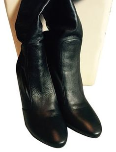Jimmy Choo Leather High Heel Black Boots