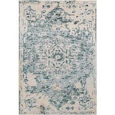 Shop for Traditional Blue & Cream Vintage Medallion Rug (5'3 x 7'3). Get free shipping at Overstock.com - Your Online Home Decor Outlet Store! Get 5% in rewards with Club O! - 22326385