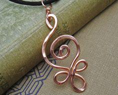 Celtic Budding Spiral Copper Pendant - Celtic Copper Necklace. $15.00, via Etsy.