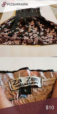 ZA Zen tubetop Floral tube top super cute for spring time  100% cotton  Made in Thailand ZA zen Tops Tunics