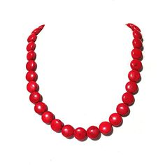 Red necklace  statement necklace  fall by BijouxDesignsStudio, $28.00