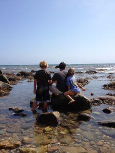 Skipping rocks at The Bluffs. Block Island, RI USA