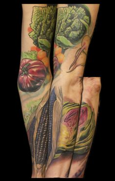 Vegetable Sleeve. Kurt Fagerland. (amazing work but there's someone running around with vegetables on their arm)