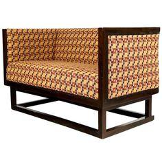 Sofa by Josef Hoffmann, Austria designed 1902 Outdoor Sofa, Outdoor Furniture, Outdoor Decor, Art Nouveau, Vintage Interior Design, Vintage Chairs, Sofa Furniture, Upholstered Chairs, Modern Decor
