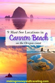 Cannon Beach, Oregon is one of the most iconic locations in Coastal Oregon. It makes the perfect stopover for your Oregon Coast Road Trip, or as a Cannon Beach vacation! Here are the best things to do in and around Cannon Beach. Include Cannon Beach Restaurants, Where to stay in Cannon Beach, RV and Camping in Cannon Beach, and so much more. Add this epic destination to your Oregon vacation! #travel #oregon #ocean Oregon Vacation, Oregon Travel, Vacation Travel, Travel Usa, Travel Destinations, Vacation Ideas, Cannon Beach Restaurants, Cannon Beach Oregon, Ecola State Park