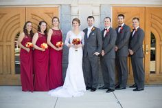 Bridal Party photos | Springfield, Northern Virginia classic traditional Catholic fall wedding with Reception at Waterford | Christa Rae Photography