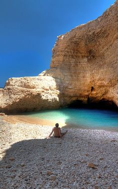 Greece To sit alone and enjoy the sound, smell,listen to the waves. Santorini, Mykonos, Dream Vacations, Vacation Spots, Vacation Travel, Beautiful Islands, Beautiful Beaches, The Places Youll Go, Places To See