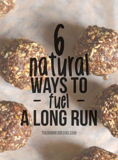 Natural & Heathly Fueling for a Marathon. Finding healthy natural sources of energy and fuel for use during a racing or endurance event can sometimes be hard. Many are heavily processed and full of refined sugars. Here are 6 ideas - some homemade and some available to buy - that can offer healthier and natural alternatives to traditional fueling foods. www.therunnerbeans.com