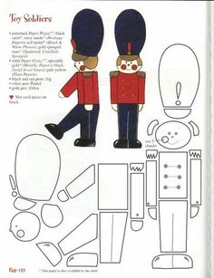 Toy soldier paper pattern