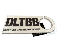 DON'T LET THE BED BUGS BITE  DOOR  HANGER HANGING WOOD SIGN PLAQUE