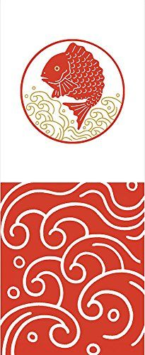 katouman Kouhaku Tenugui Me De Tai | Me De Tai (目出鯛): Auspicious sea bream