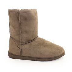Faux Suede Ankle Boots Taupe