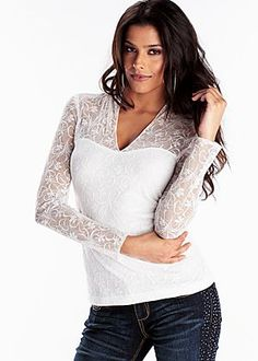White duchess lace top