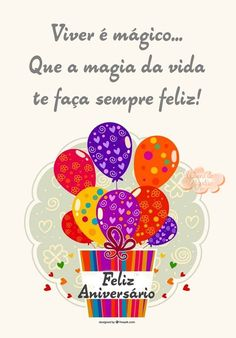 Aniversário Birthday Messages, Happy Birthday Cards, Birthday Wishes, Happy Day, Congratulations, Birthdays, Lettering, Humor, Words