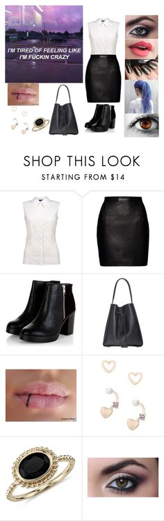"""""""I'm tired of feeling like I'm f**king crazy"""" by mm2004 ❤ liked on Polyvore featuring Magda Butrym, Lipsy, Blue Nile, beautiful, quotes, workclothes and Beautycomesnaturally"""