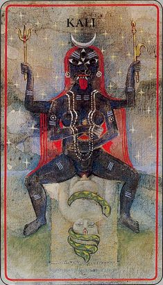 Haindl deck - Queen of Wands (Kali)