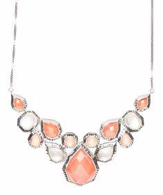 Look what I found on #zulily! Red Coral & Swarovski Marcasite Bib Necklace by Judith Jack #zulilyfinds