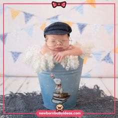 Bucket pose white curly, glasses, linen hat Dream Photography, Newborn Baby Photography, Sweet Dreams, Crochet Hats, Poses, Bucket, Curly, Glasses, Fashion