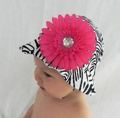 Zebra Print or White Baby Sun Hat With by AddisonAveBoutique, $12.50