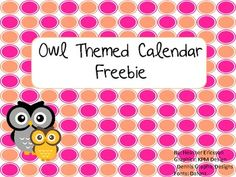 This calendar set includes: Months 2 sets of dates If you like this product, you may also like the other Owl Theme products: Owl Theme Classroom. Owl Classroom Decor, Classroom Rules, Preschool Classroom, Future Classroom, Kindergarten Activities, Classroom Themes, Classroom Organization, Toddler Classroom, Owl School