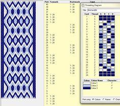 Flinkhand 6 Diseño para 24 tarjetas, 3 colores, repite dibujo cada 8 movimientos   // Band06 ༺❁