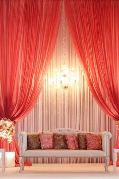 Pink Stage Perfection #weddingdecor #pinkweddings #indianwedding Wedding of Anila and Kiran by nadia d. photography