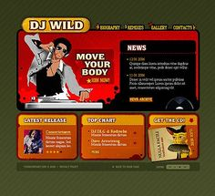 Music DJ Flash Templates by Matrix Dj Website, One Page Website, Flash Templates, Website Template, Music Bands, Biography, Biographies, Bands