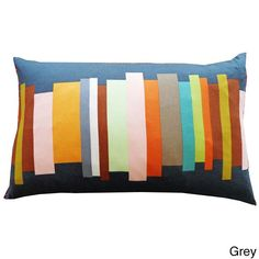 Jiti Multicolored Brushes Throw Pillow - Overstock Shopping - The Best Prices on Throw Pillows
