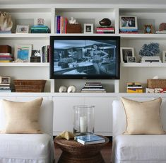 large wall bookshelves and storage