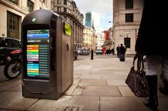 The Newest Form Of Advertising: Recycling Bins With LED Screens -   Gresham Street Renew LCD screen