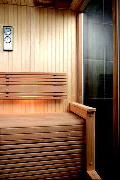 Luxury sauna interior