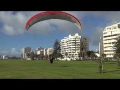 Paraglider landing on Sea Point promenade in Cape Town (nearly crashes into me taking the footage! Virgin Atlantic, Paragliding, Tandem, Cape Town, Landing, South Africa, Sea, City, Ocean