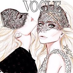 """@designerduchess's photo: """"Love this #illustration of the #Olsentwins for #vogue"""""""