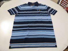 Men's Polo Ralph Lauren short sleeve stripe shirt L 0489103 clscs01 knit blues #PoloRalphLauren #Polo