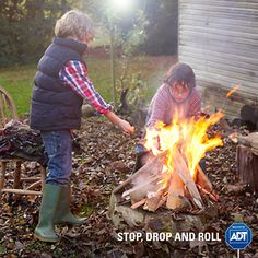 Educate your family on this technique that is important to learn in the event of catching on #fire. #FirePrevention #FireSafety #ADT #HomeSecurity