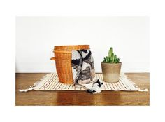 Large Vintage Woven Basket by SergeantSailor on Etsy