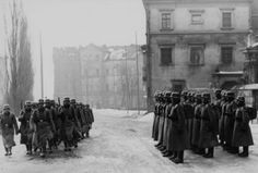 Le Poste de Garde ou le soldat allemand en faction ! la relève de la garde