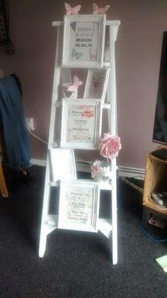 Homemade wedding entrance ladder shabby chic