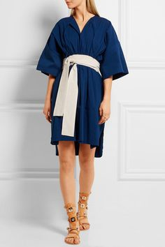 Royal-blue cotton and linen-blend  Slips on 86% cotton, 14% linen Dry clean  Made in Italy