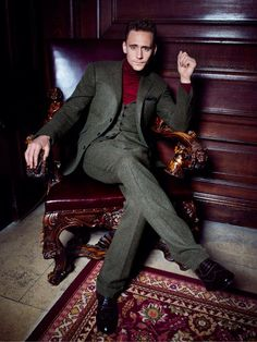"""I never thought I'd say """"wow, that's a sexy turtleneck!"""" but apparently Tom Hiddleston makes all things possible... that's a sexy turtleneck."""