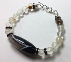 Healing Energies Statement Bracelet of Crystal by CatchyTreasures