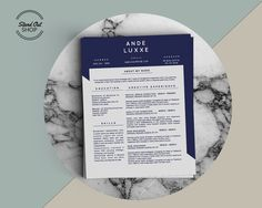 Ande Luxxe Resume Template