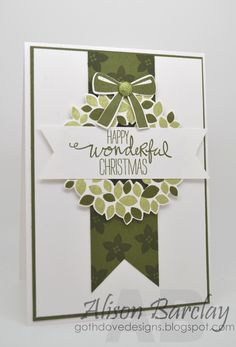 Gothdove Designs - Alison Barclay Stampin' Up! ® Australia : Stampin' Up! Australia - Color Coach Card #73 - Wondrous Wreath - The Artful Stampers Blog Hop