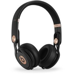 Beats by Dr. Dre Rose Gold Mixr Headphones found on Polyvore